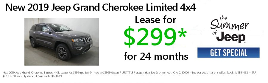 New 2019 & 2018 Jeep & Chrysler Specials | Lease or Buy