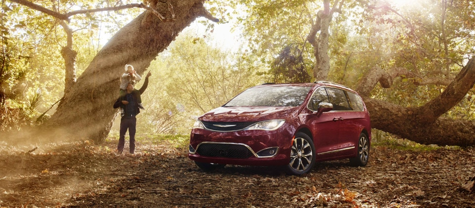 2019 Chrysler Pacifica in forest