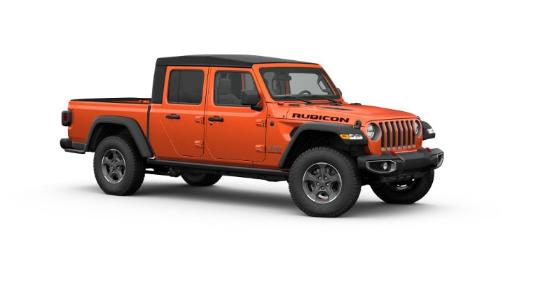 Orange 2020 Jeep Gladiator Rubicon