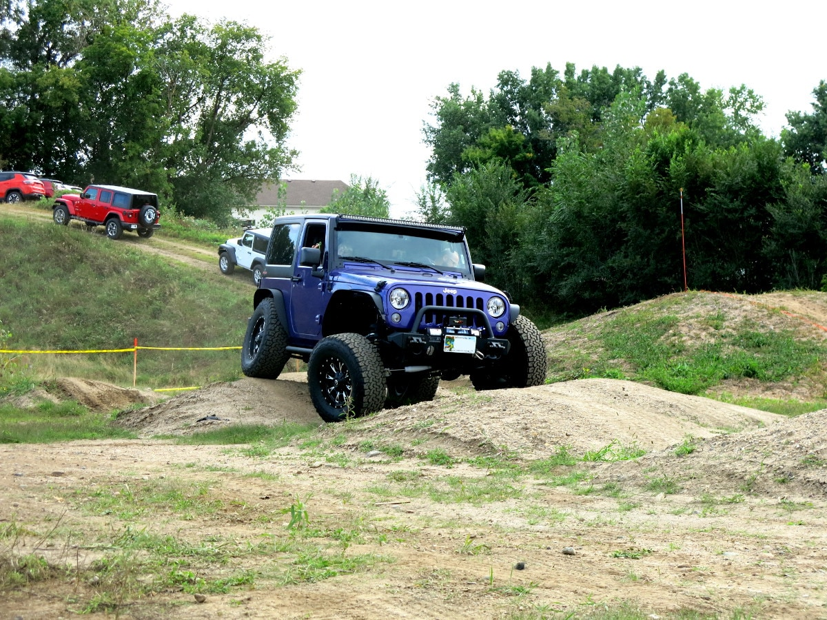 Purple Jeep Wrangler
