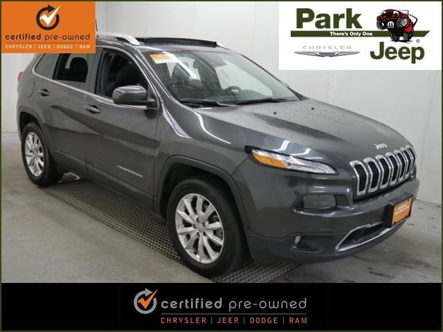 2016 Jeep Cherokee Limited V6 4x4 Luxury Group Chrysler Certified SUV