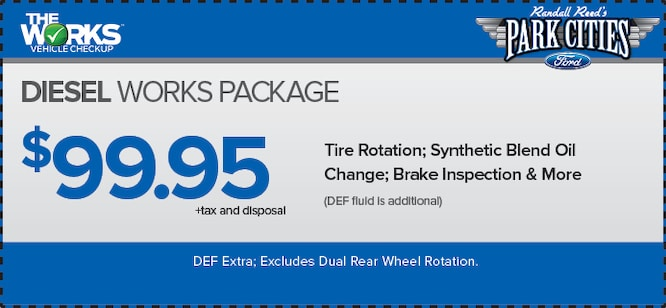 Ford Service Specials Park Cities Ford Of Dallas