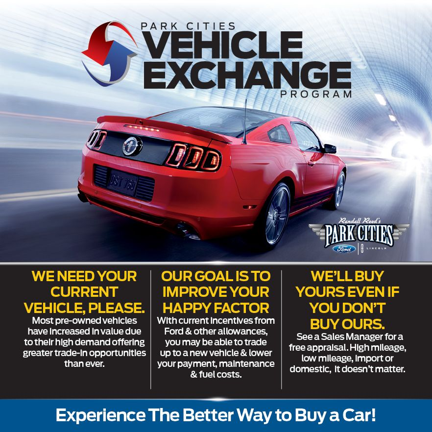 Ford Vehicle Exchange Program | Park Cities Ford of Dallas | Dallas ...