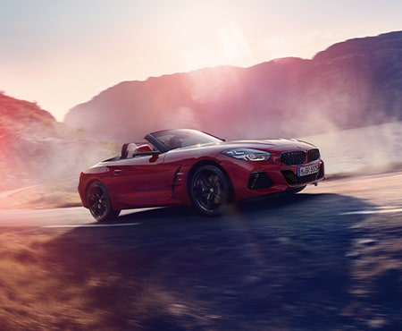 Red BMW Z4 driving