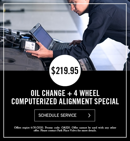 Oil Change + 4 Wheel Computerized Alignment special