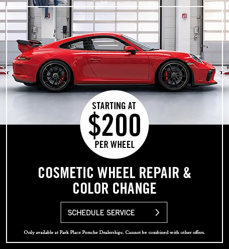 Porsche Cosmetic Wheel Repair and Color Change