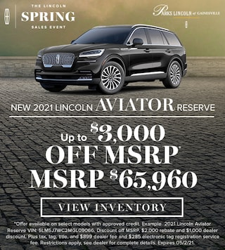 New 2021 Lincoln Aviator Reserve