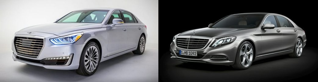 2017 Genesis G90 vs Mercedes-Benz S-Class - side by side