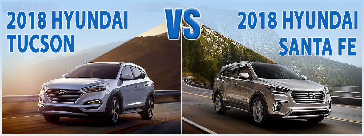 Hyundai Tucson vs. Hyundai Santa Fe in Wilmington NC