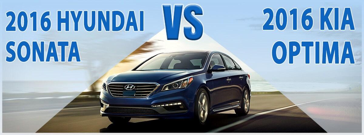 Compare New 2016 Kia Optima Vs 2016 Hyundai Sonata