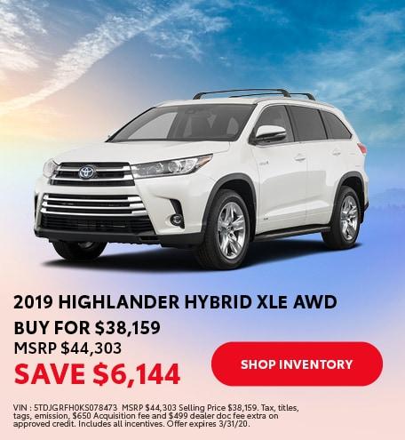 2019 Highlander Hybrid XLE AWD
