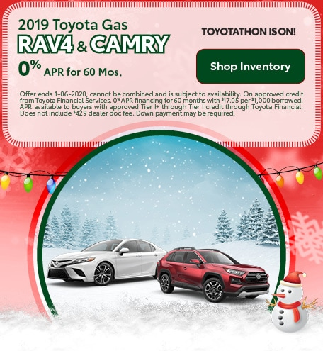 2019 Toyota Gas RAV4 & Camry