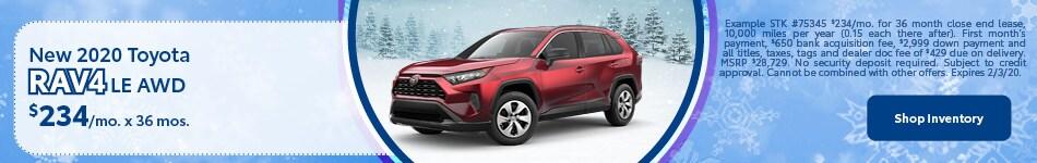 New 2020 Toyota Rav4 LE AWD