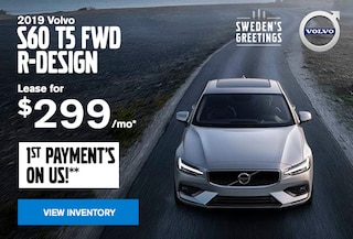 Lease for $299/mo* - 2019 S60 T5 R-Design