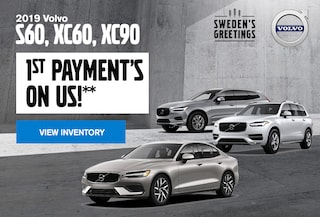 1st Payment's On Us* - 2019 S60, XC60, and XC90