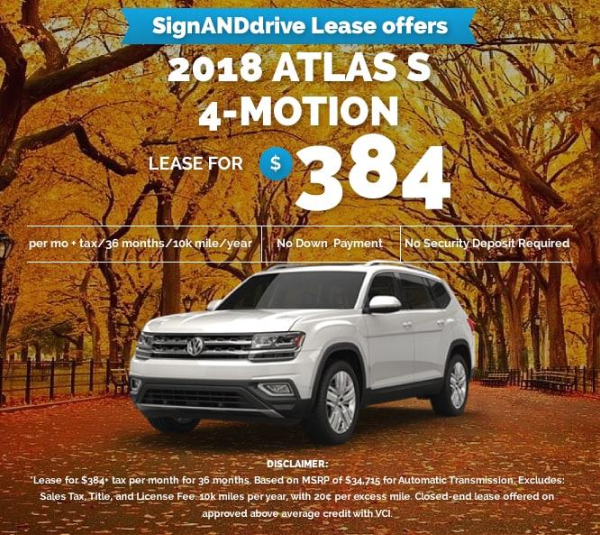 Vw Atlas Lease >> Vw Atlas S 4 Motion Volkswagen Pasadena