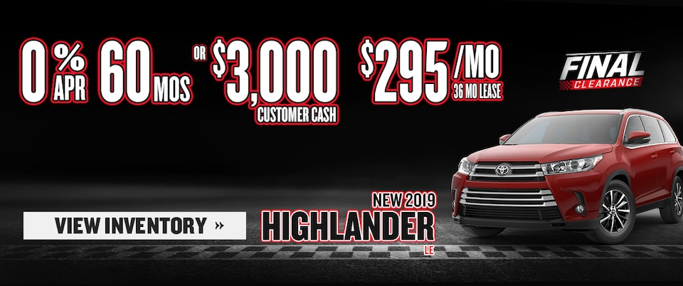 New 2019 Highlander LE