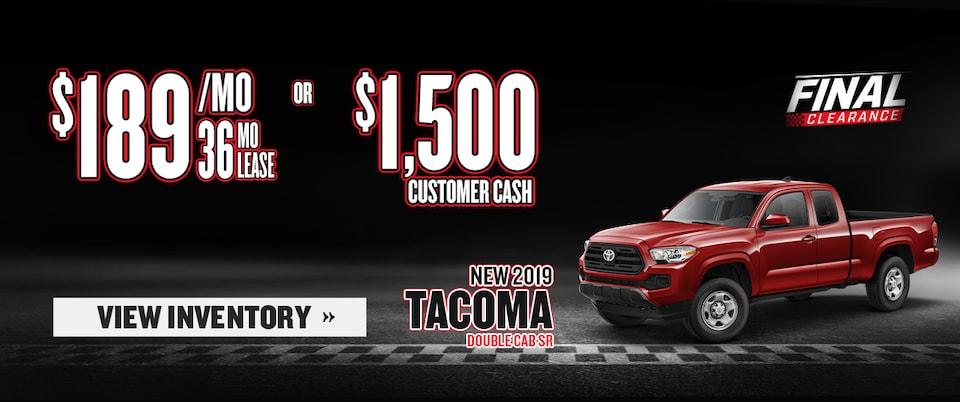 New 2019 Tacoma Double Cab SR