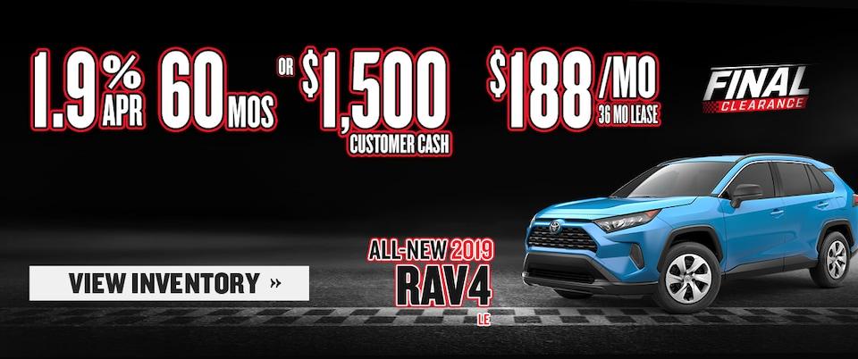 New 2019  RAV4 LE