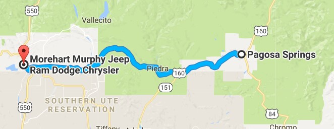 Driving Directions from Aztec, NM to Morehart Murphy Regional Auto ...