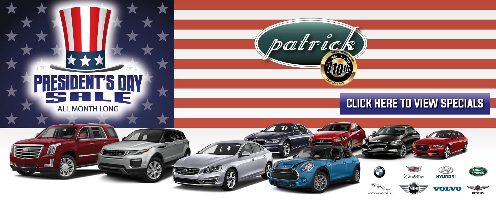 Presidents Day Car Sales 2017 >> Patrick New & Used Car Dealer Chicago IL   Hyundai, BMW ...