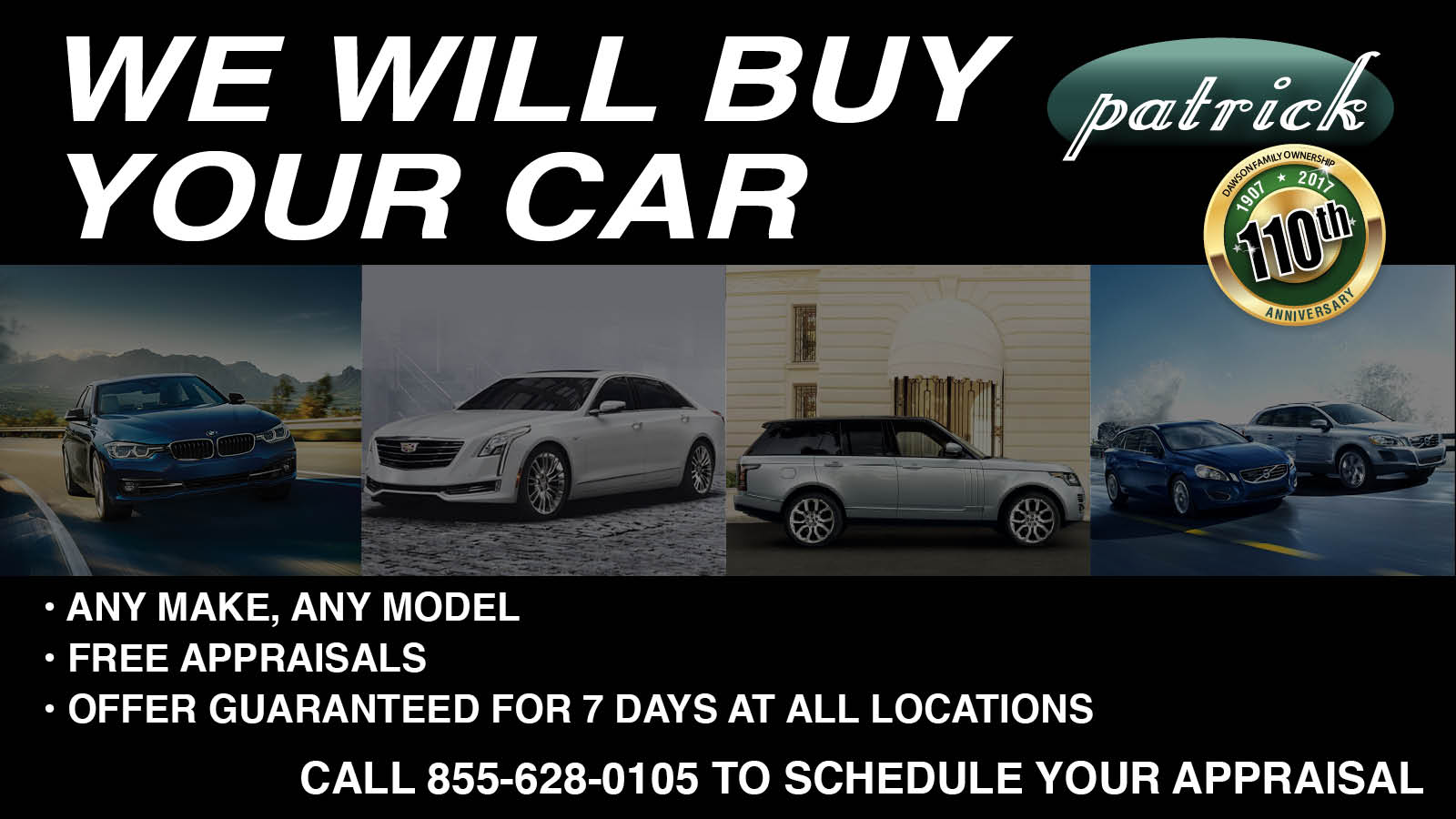 The Patrick Dealer Group | New BMW, MINI, Volvo, Jaguar, CADILLAC ...