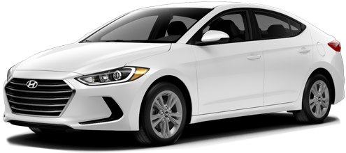 new white Hyundai Elantra sedan
