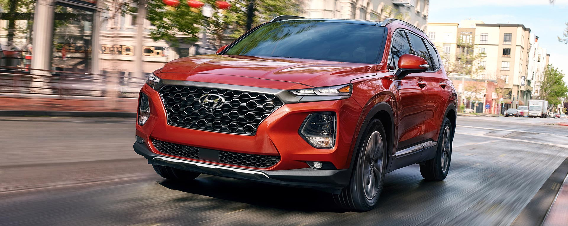 2019 Hyundai Santa Fe on street