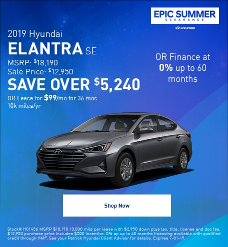 2019 - July Elantra