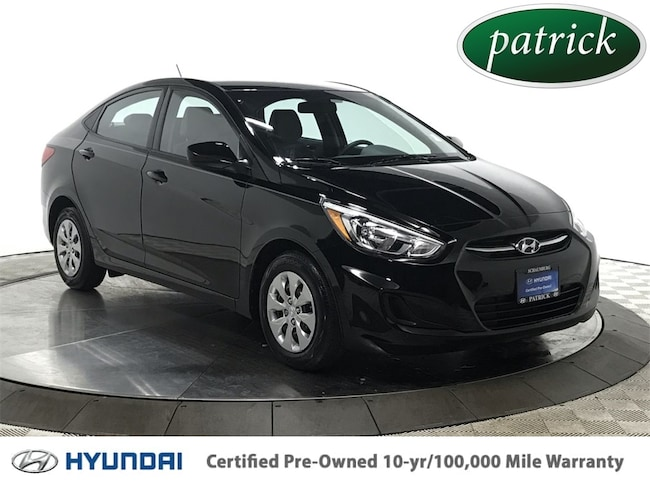 Certified Pre-Owned 2016 Hyundai Accent SE Sedan for sale in Chicago area