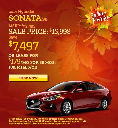 2019 - Sept Hyundai Sonata
