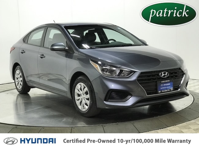 Certified Pre-Owned 2018 Hyundai Accent SE Sedan for sale in Chicago area