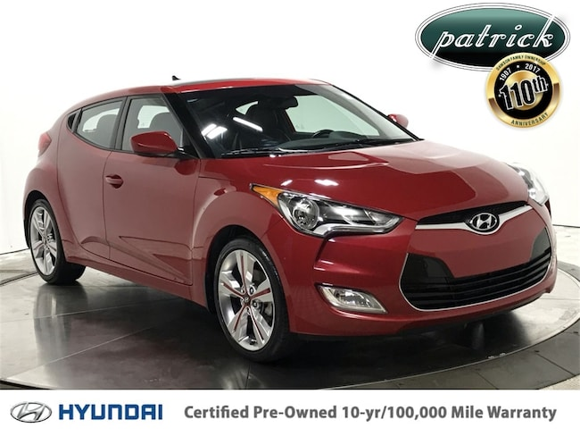 Certified Pre-Owned 2016 Hyundai Veloster Style Package Hatchback for sale in Chicago area