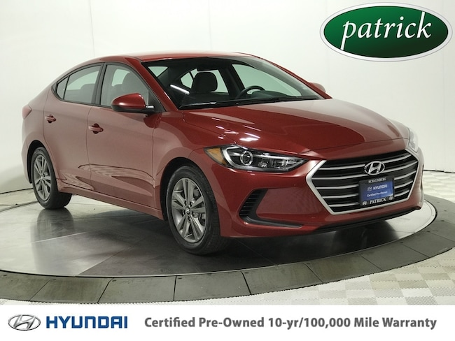 Certified Pre-Owned 2018 Hyundai Elantra SEL Sedan for sale in Chicago area