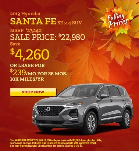 2019 - Sept Hyundai Santa Fe
