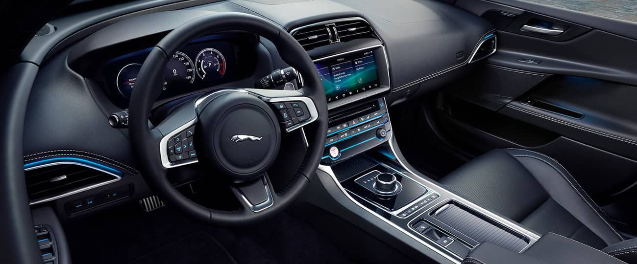 interior cabin of 2019 Jaguar XE