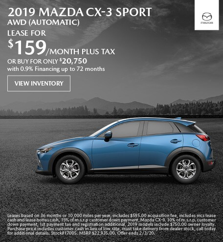 January 2019 Mazda CX-3 Sport AWD (Automatic) Lease