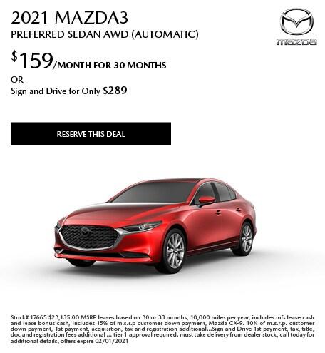 January 2021 Mazda3