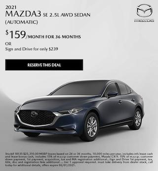 2021 Mazda3 SE 2.5L AWD Sedan (Automatic)