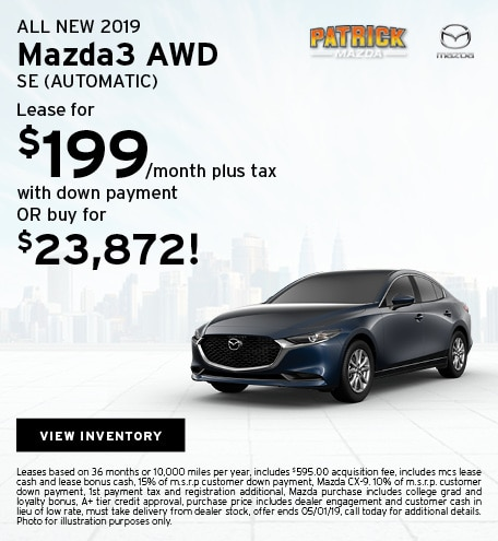 April 2019 Mazda3 Lease