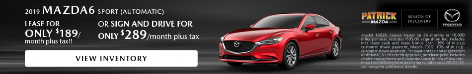 August 2019 Mazda6 Lease