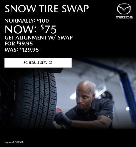 April Snow Tire Swap