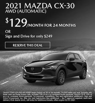 March 2021 Mazda CX-30 AWD (Automatic)