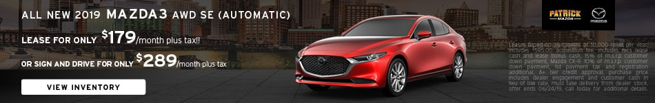 June 2019 Mazda3 Lease Offer