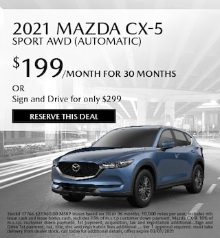 February 2021 Mazda CX-5 Sport AWD (Automatic)