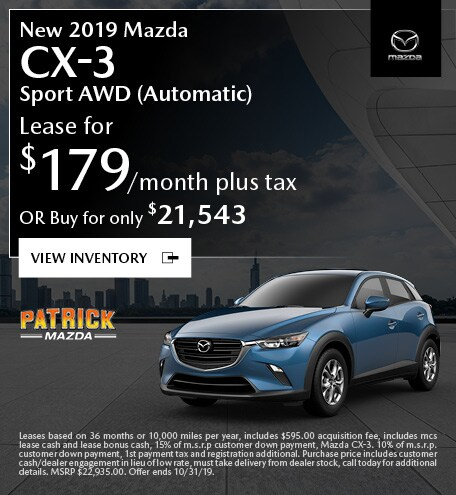 October 2019 Mazda CX-3 Lease