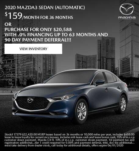 May 2020 Mazda3 Sedan (Automatic)