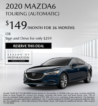 Updated November 2020 Mazda6 Touring (Automatic)