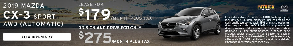 May 2019 CX-3 Lease