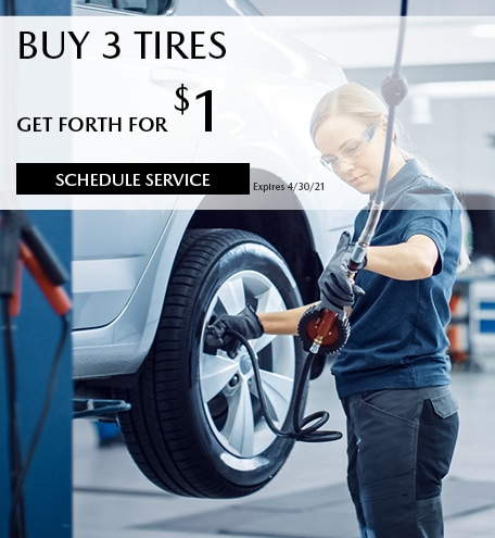 March Buy 3 Tires Get Forth For $1